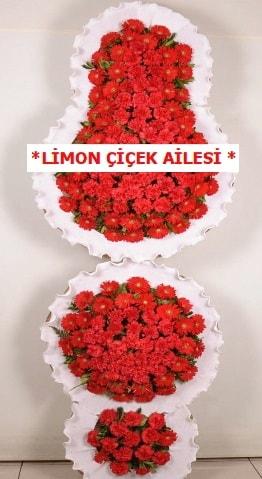 3 katlı kırmızı düğün açılış çiçeği  Mardin çiçek gönderme