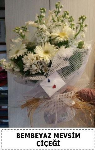 Bembeyaz görsel mevsim çiçek buketi  Mardin çiçek yolla