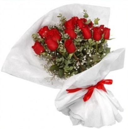 9 adet kırmızı gül buketi  Mardin çiçekçi mağazası