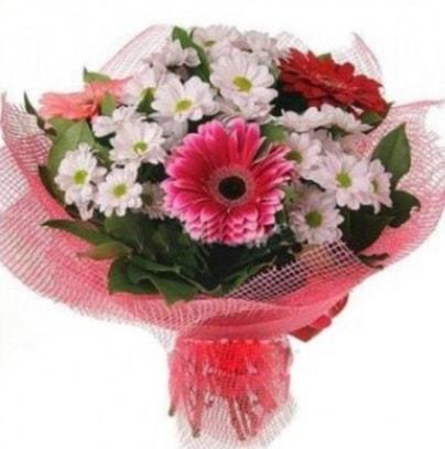 Gerbera ve kır çiçekleri buketi  Mardin internetten çiçek siparişi