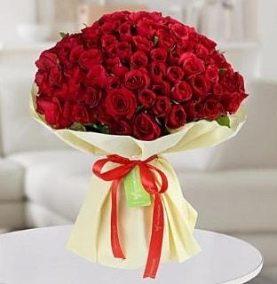 101 adet kırmızı gül buketi koca demet  Mardin internetten çiçek siparişi