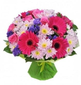 Karışık mevsim buketi mevsimsel buket  Mardin çiçek satışı