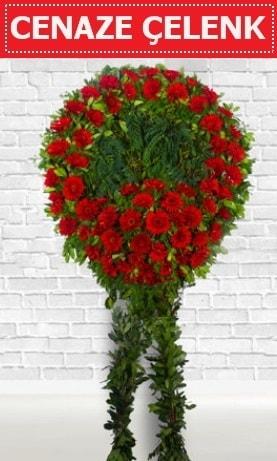 Kırmızı Çelenk Cenaze çiçeği  Mardin İnternetten çiçek siparişi