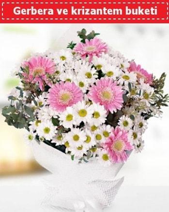 Papatya ve Gerbera Buketi  Mardin çiçek , çiçekçi , çiçekçilik