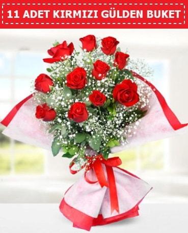 11 Adet Kırmızı Gül Buketi  Mardin internetten çiçek siparişi