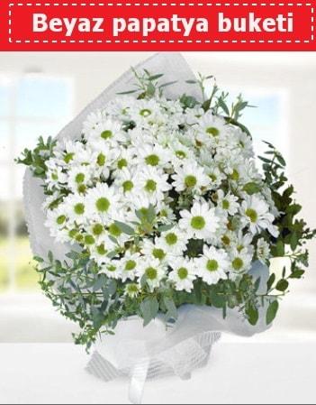 Beyaz Papatya Buketi  Mardin 14 şubat sevgililer günü çiçek