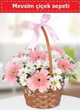 Mevsim kır çiçek sepeti  Mardin çiçek , çiçekçi , çiçekçilik