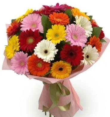Karışık büyük boy gerbera çiçek buketi  Mardin çiçek satışı